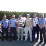 Команда ОВО-Победитель соревнований по фигурному вождению автомобиля на приз памяти Н.И.Нуждина.