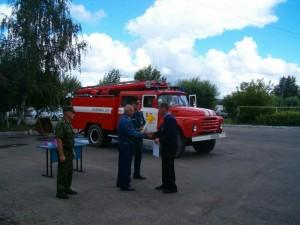 Фигурное вождение Пожарного автомобиля.